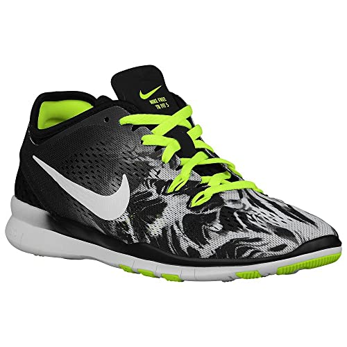 240692d58757 Nike Free 5.0 TR Fit 5 Print 704695-014 Black White Volt Womens Running  Shoes (Size 10.5)  Amazon.in  Shoes   Handbags