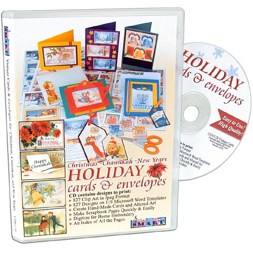 ScrapSMART.com - Vintage Christmas, Chanukah, and New Years Holiday Cards & Envelopes Software - 477 Designs in Microsoft Word Templates and 477 Clip Art Designs in Jpeg Format (CDVC20)