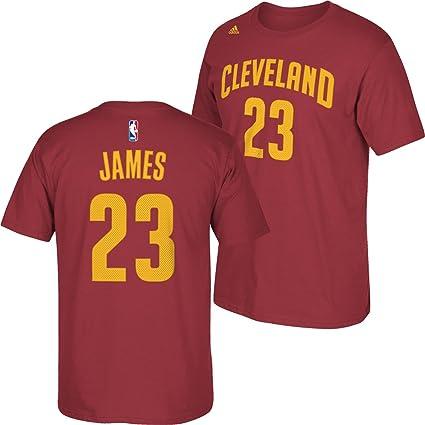 Adidas Cleveland Cavaliers NBA Lebron James # 23 Jugador número Camiseta de Manga Corta para niños