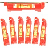 LudoPam Line Level for Building Trades, Engineering, Surveying, Metalworking and other Equipment Measure, 6 Pack