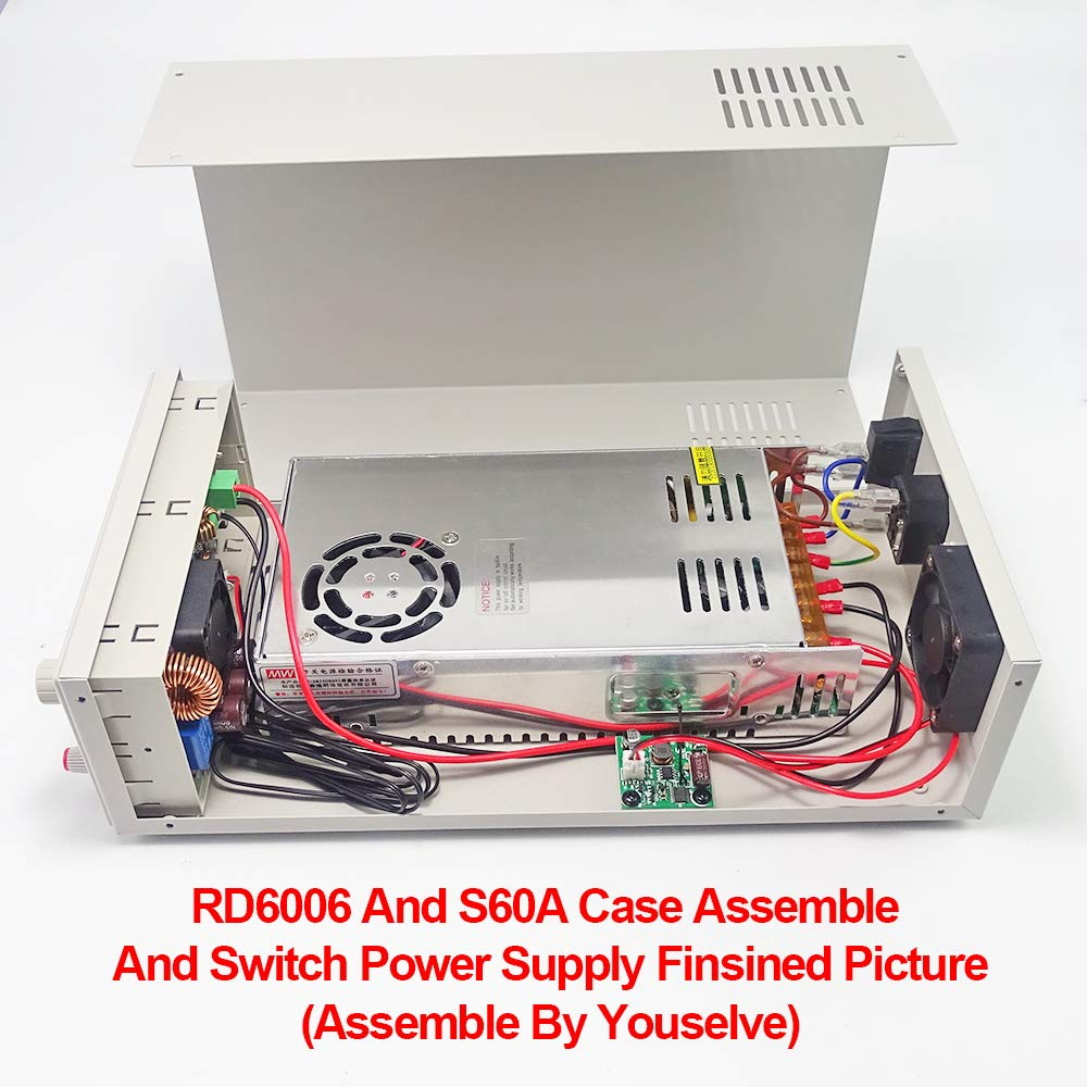KKmoon LCD Digital programmierbare Step-down Power Supply Module Gleichspannung Strom Abw/ärts Spannungswandler Voltmeter 60V 5A mit 2,4 Zoll LCD Farbdisplay