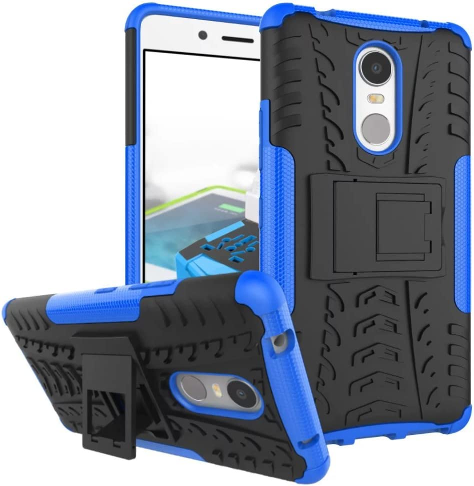 Lenovo K6 Note Case, Lantier Dual Layer Shockproof Impact Protection Shockproof Hybrid Armor Tough Hard Rugged Heavy Duty Combo Hard Shell Case Cover with Kickstand for Lenovo K6 Note 5.5inch Blue