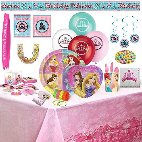 Birthday Bash In A Box Party Supplies (Princess 159Pc)