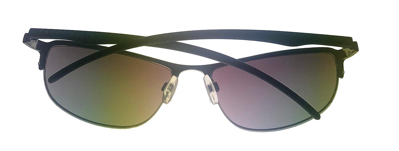 d032abf9a5 Amazon.com  Perry Ellis Mens Bottom Rimless Metal Sunglasses Shiny Gunmetal  PE14-1  Clothing