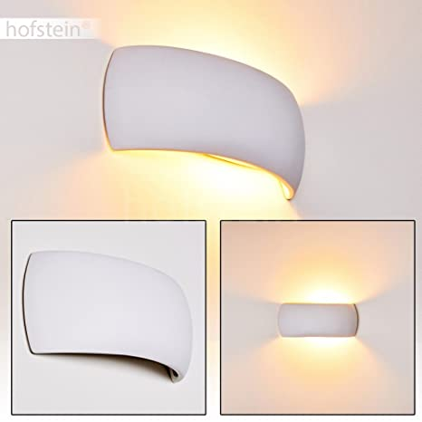 Lampada da parete SCANDICCI in ceramica bianco - curvo lampada per ...