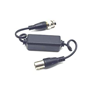Xenocam HD-TVI/HD-CVI/AHD/Analog CVBS Passive Coaxial Video Ground Loop Isolator Built-in Video Balun for CCTV Cameras (Color: TWISTED-910T)