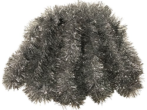 Thick Tinsel Christmas Garland 15' (Silver)