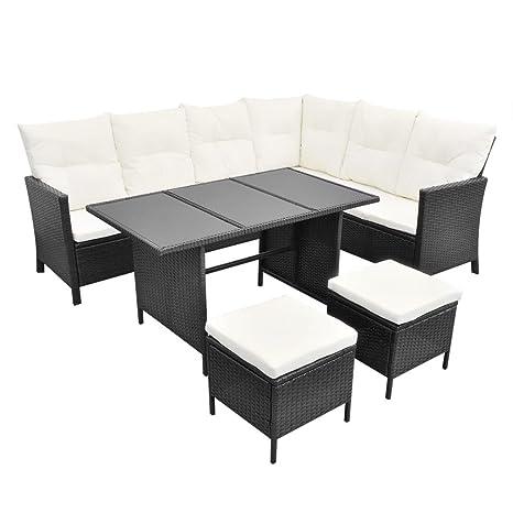 vidaXL Conjunto de Muebles de Jardín para 8 Personas Poli ...