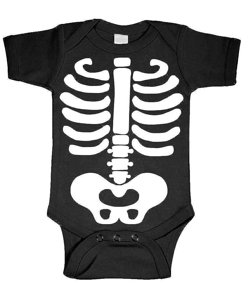 46c6c8a9c99b Amazon.com  Live Nice Baby Skeleton - Halloween Costume Outfit - Cotton  Infant Bodysuit  Clothing