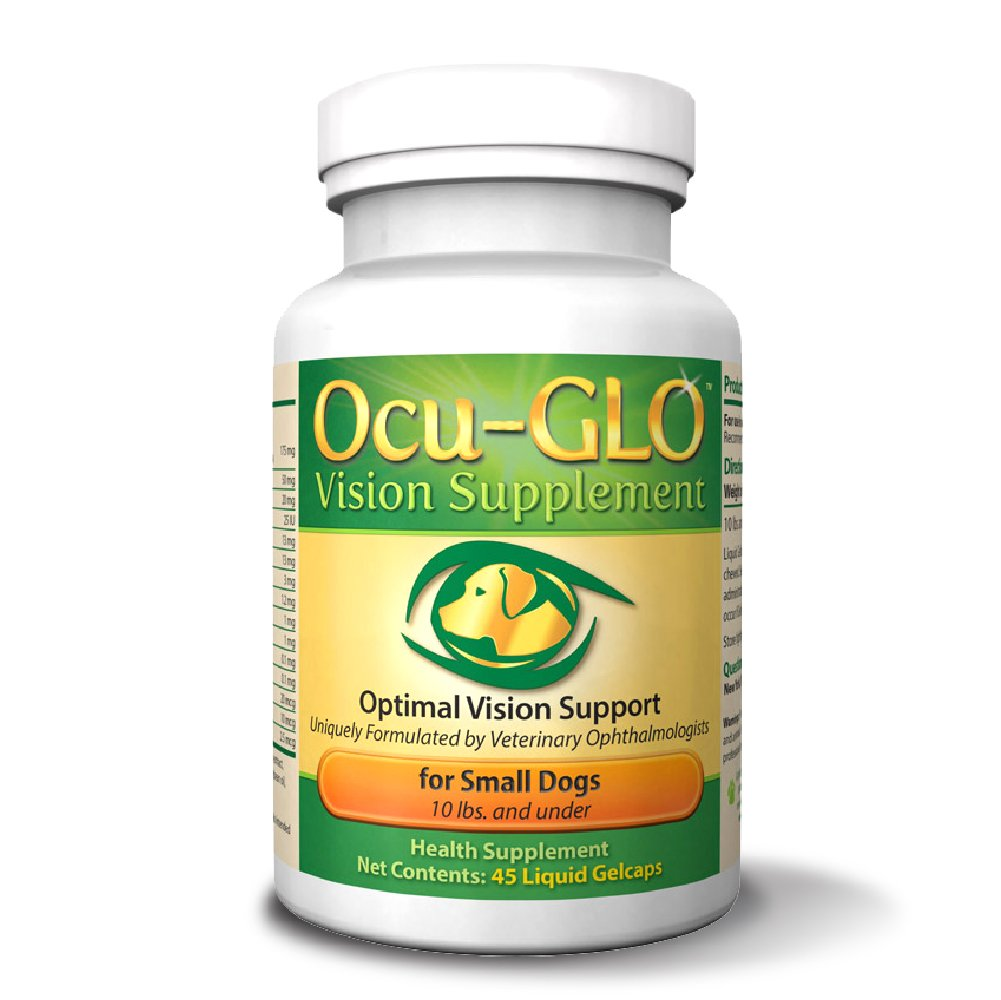 Ocu-GLO Vision Supplement for Small Dogs, Animal Necessity - Lutein, Omega-3 Fatty Acids, Grapeseed Extract Support Optimal Eye Health & Vision in Dogs - Antioxidants for Canine Ocular Health - 45ct by Ocu-GLO (Image #1)