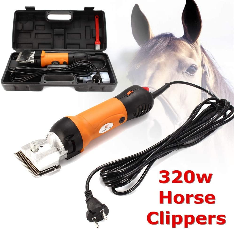 Tijeras eléctricas eléctricas para cortar el pelo de caballo, 320W y 6 velocidades ajustables, para afeitar la piel en llamas de alpacas de burro y otras mascotas de ganado de granja,EU220V
