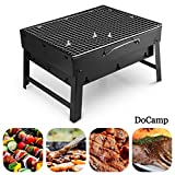 DoCamp Outdoor Portable Charcoal Grill – Foldable BBQ Grill, Lightweight Camping Stove & Fire Pit For Campers & Travelers – Perfect For Picnics, Hiking, Beach, Camping & Outdoor Cooking (Medium)