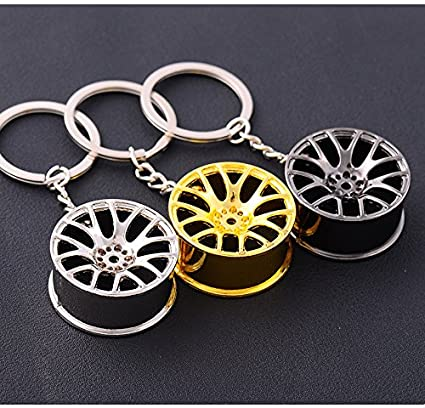 Amazon.com: Automobile modification hub, turbo charging shape key buckle/keychain/bag ornaments (yellow): Automotive