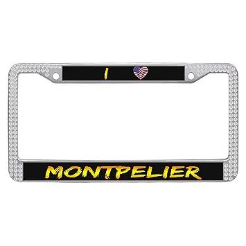 Amazon.com: Montpelier Customized Auto License Frames Plate ...