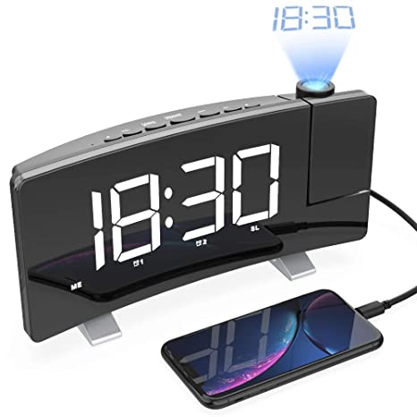LightBiz Projection Alarm Clock, 7