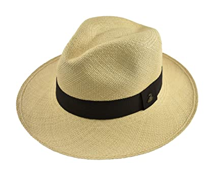 8e8be33e7 Original Panama Hat - Natural Classic Fedora - Black Band - Toquilla Straw  - Handmade in Ecuador by Ecua-Andino