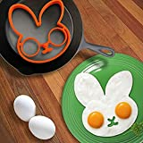 Dolloress 14×12×1.5cm Kitchen Silicone Breakfast Rabbit Pancake Fried Egg Mould Shaper Cooking Tool