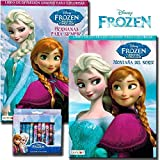 Disney Frozen Coloring Book Set With Crayons (2 Books - International Edition)