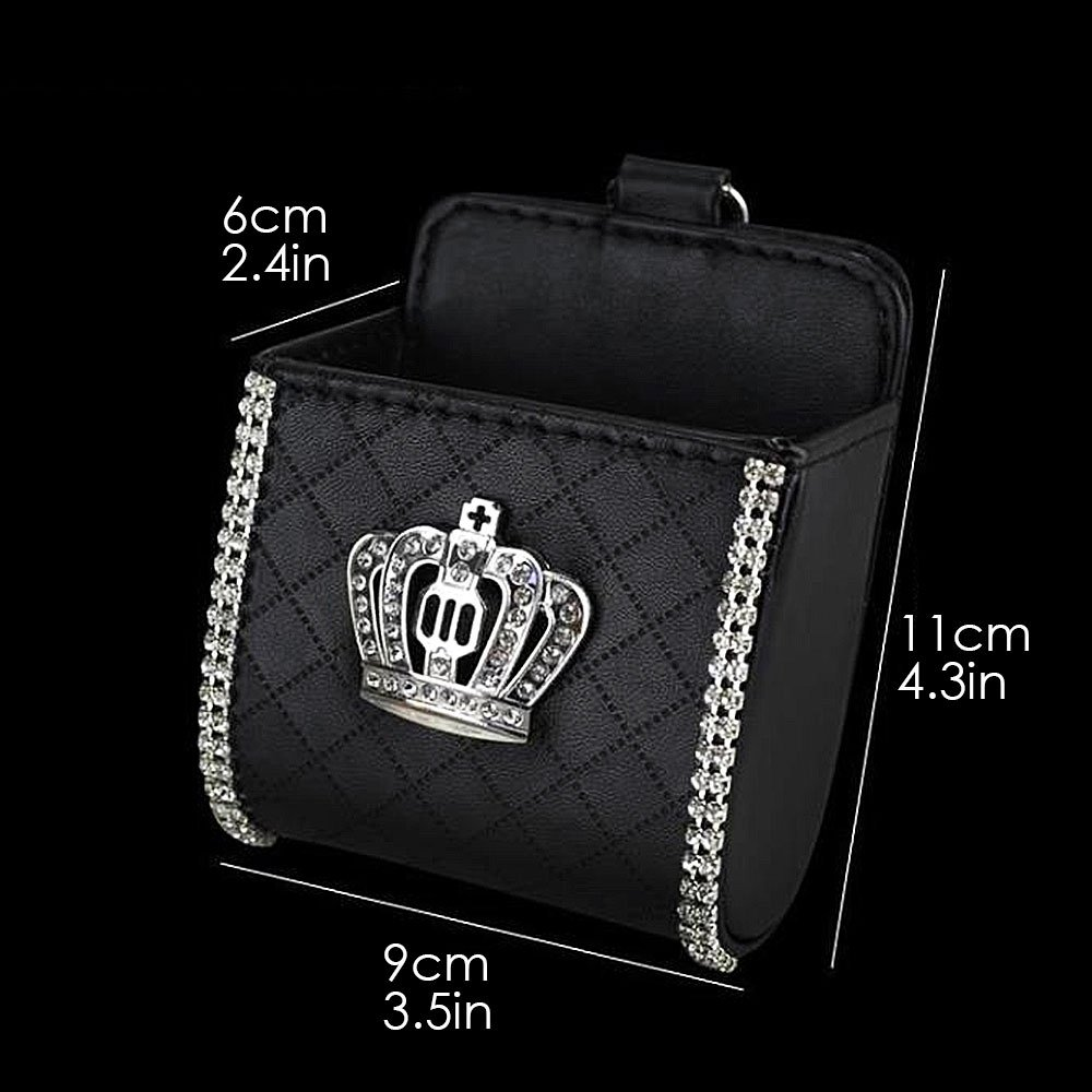 Miss Bling Auto Air Vent Sospensione Multiuso Pouch Sundries Organizer Telefono Cellulare Box Coin Card Key Occhiali Tasca portaoggetti Tasca con Gancio
