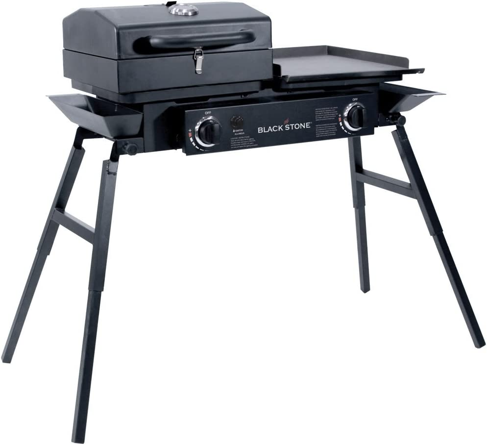 The Blackstone Tailgater Portable Gas Grill and Griddle Combo
