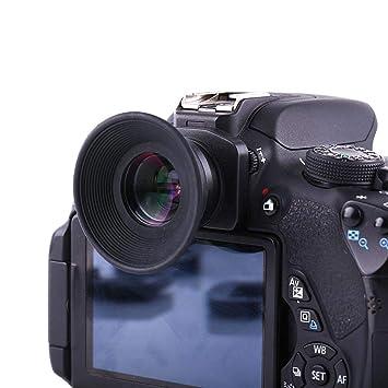 Topiky Visor de cámara 1.5X, DSLR Lupa Ocular de Enfoque Fijo Lupa ...