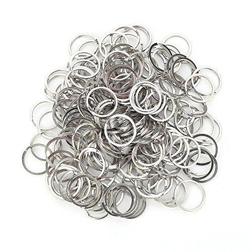 200pcs Round Metal Split Keychain Rings for Car Home Keys Organization DIY Crafts Makings - Metal Rounds