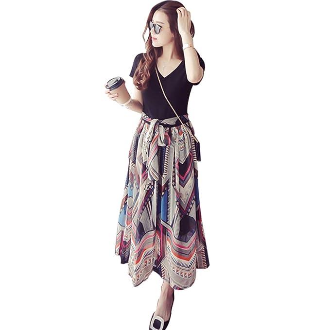 8586a75ca KINDOYO Vestido Lactancia de Mujer Embarazo - Moda Premamá Blusa Maternidad  de Manga Corta Largo Vestidos