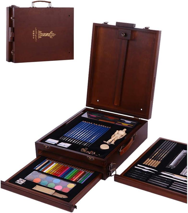 CAO-LIFE Lápices De Colores, Dibujo Profesional para Principiantes, Caja De Herramientas De Suministros De Arte, Caballete, Pintura De Aguada para Adultos, Juego De Pintura: Amazon.es: Hogar