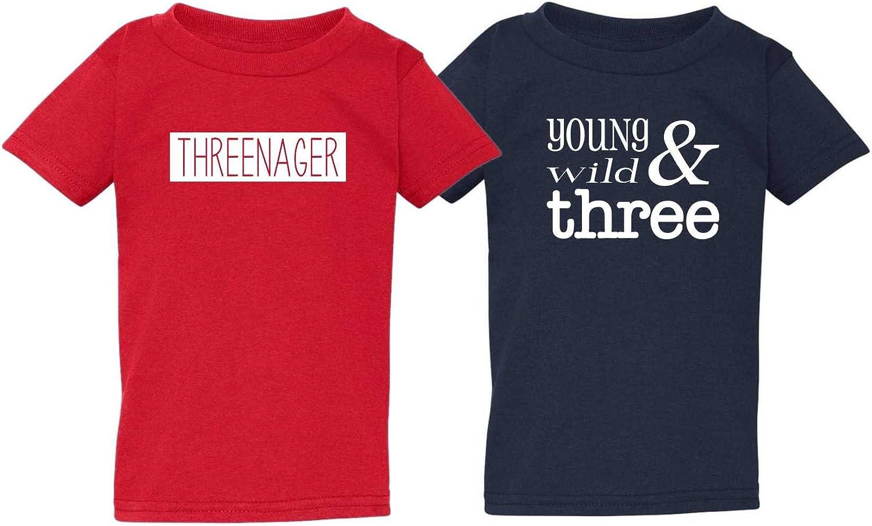 Threadrock Little Boys Birthday Boy 2 Year Old Toddler T-Shirt