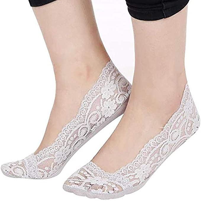 AIMADO Calcetines de encaje dulce para mujer Calcetines cómodos de ...