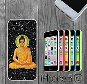 Enlightenment Galactic Buddha Prayer Custom made Case/Cover/skin FOR iPhone 5C - White - Rubber Case ( Ship From CA)
