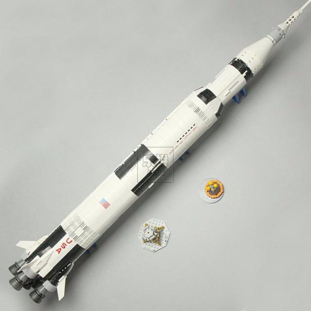 1969 Pcs The Apollo Saturn V Launch Vehicle Set - Children Educational Building Blocks Toy