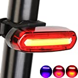 Yakamoz Bicycle Taillight Ultra Red & Blue & Pink Light USB Rechargeable Light - 6 Modes in 1 LED Waterproof Bike Light