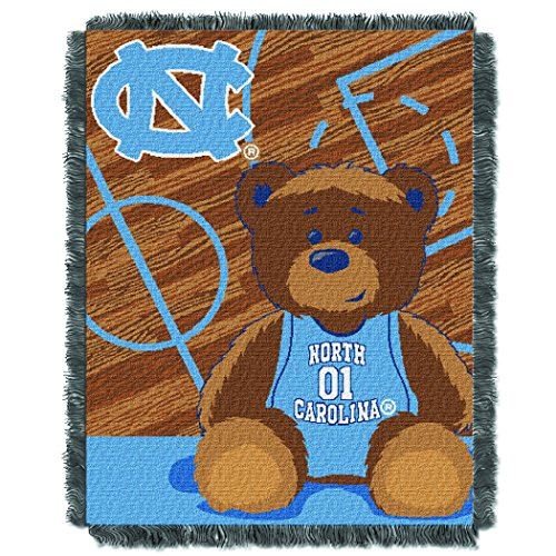 UNC OFFICIAL Collegiate, Fullback Baby 36 x 46 Triple Woven Jacquard Throw ()