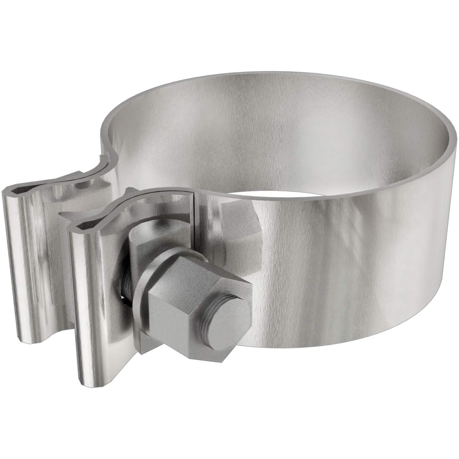 Pack of 10 Magnaflow 10162 Torca AccuSeal Stainless Steel 2.5 Exhaust Band Clamp