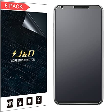 J&D Compatible para 8 Paquetes Protector de Pantalla para LG V30 ...
