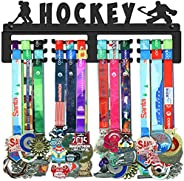 GENOVESE Medal Holder Display Hanger Rack for Hockey,Super Sturdy Black Steel Metal,Wall Mounted Over 50 Medal