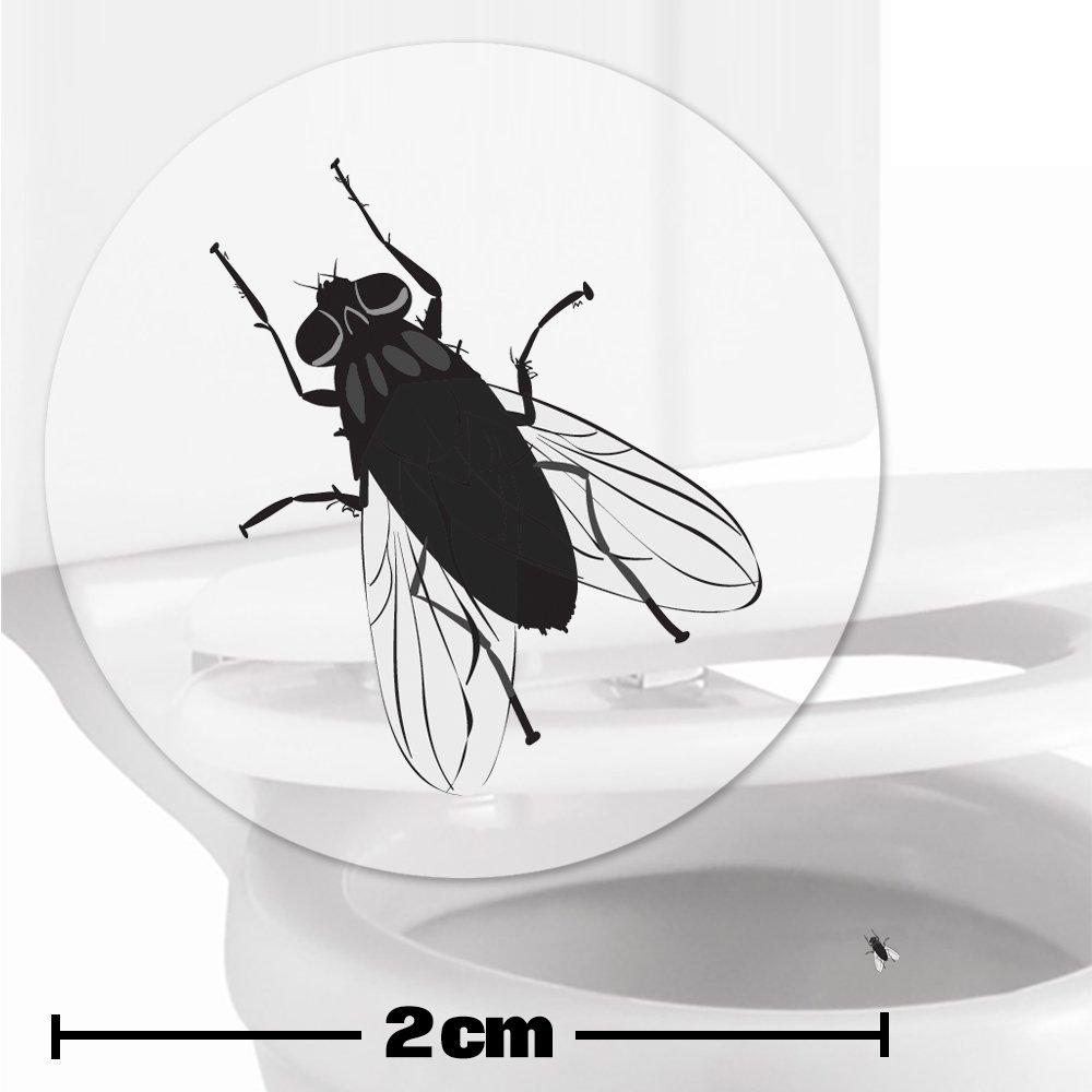 10 x pegatinas con diana de mosca (2cm) Ayuda para que los niños aprender a ir al baño. Divertido entrenamiento para usar el inodoro en el cuarto de baño. Toilet Marksman TM-FLY-10