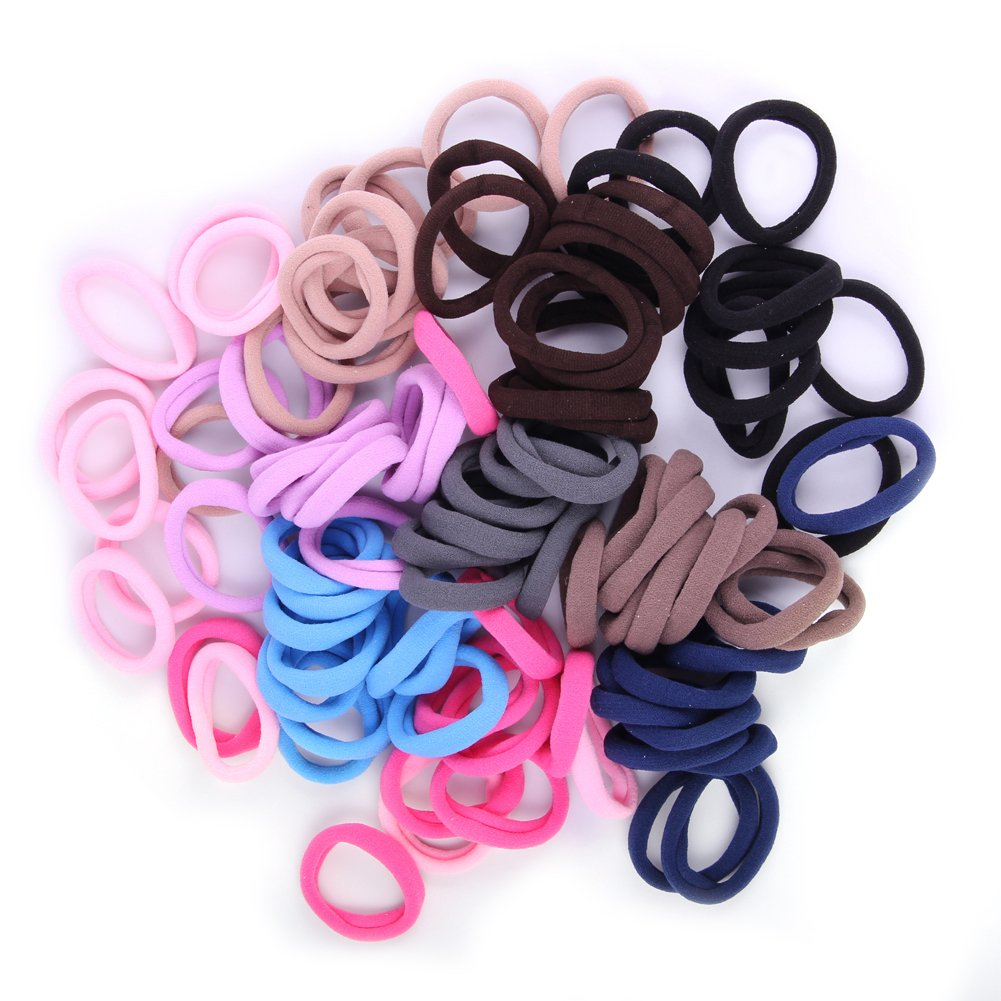 Girls Hair Bows Ponytail Holder Ball Elastic Rope Band Janecrafts Cute 24 100pcs Girl Ties Holders Scrunchie Mixed Colors