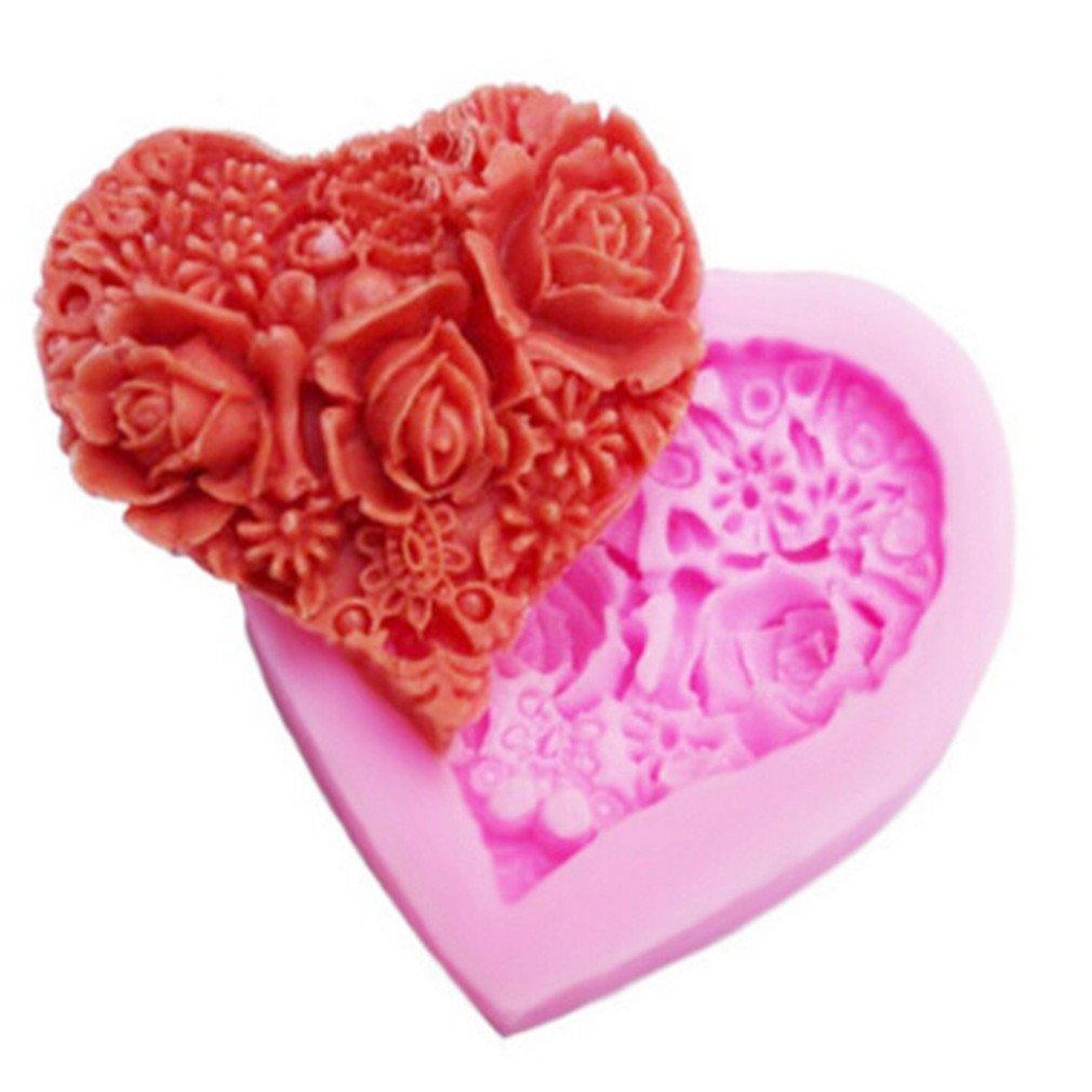 HENGSONG Silicone Fondant Chocolate Mould DIY 3D Rose Flower Shape Baking Tray Cake Decor Icing Sugarcraft Mold Baking Tools Mei_mei9 UK11249