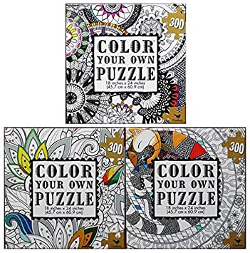 Color your own puzzle. Assorted jigsaw puzzles that combine ...