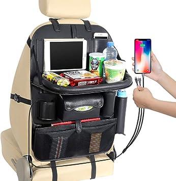 Amazon Com Car Backseat Organizer With Tray For Kids Universal 3