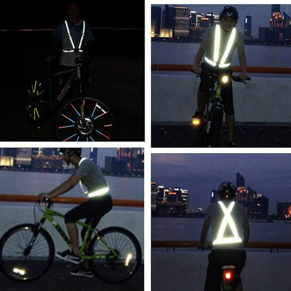 GOGO Adult Wholesale Reflective Vest For High Visibility, Motorcycle Jacket/Running Gear/Shirt-NeonGreen-50PCS by GOGO (Image #7)