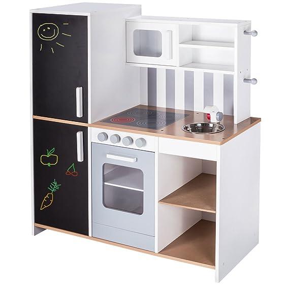 Kinderküche Holz mit Tafel - roba Kinderküche mit Tafel