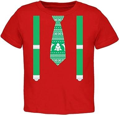 Old Glory Suéter de Navidad Feo Empate con Camiseta de Tirantes roja niño-4T: Amazon.es: Ropa y accesorios