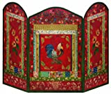 Stupell Home Décor Red Rooster 3-Panel Decorative Fireplace Screen, 44 x 0.5 x 31, Proudly Made in USA Review
