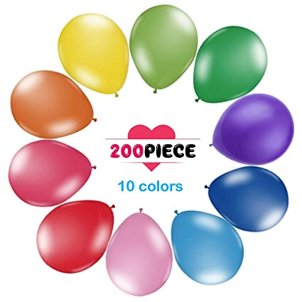 200 Count Pack Balloons 12quot Multicolor Thicken Latex For Birthday Party