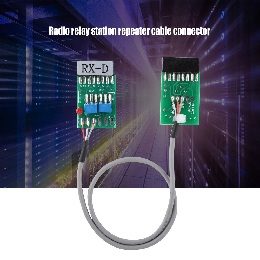 Radio Repeater Unidirectional Delay Cord Cable for GM300 GM338 GM3188 GM3688 Made Copper Core for Durability Compact Size and Easy to Carry