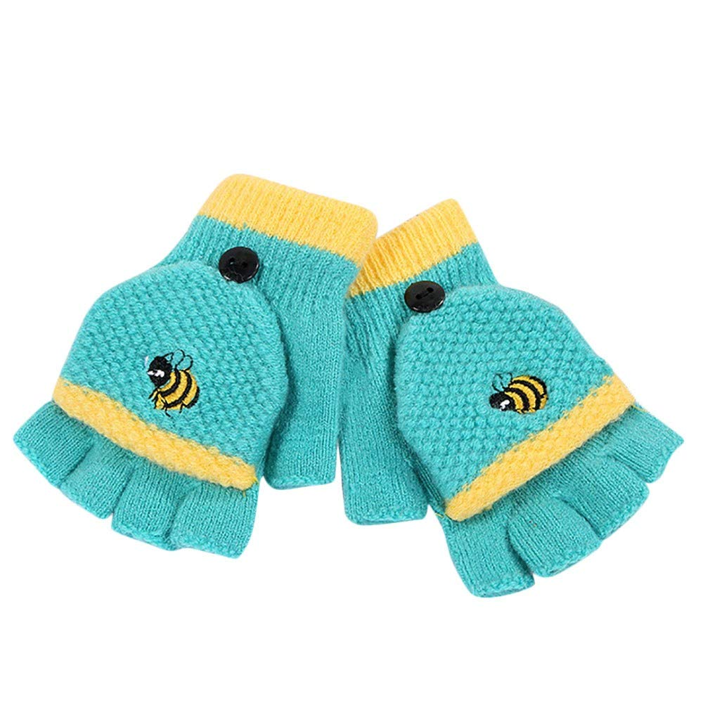 Little Kids Winter Warm Gloves, Colorful(TM) Children Kids Boy Girl Winter Cartoon Honey Bee Patchwork Keep Warm Gloves for 2-4 Years Old Colorful(TM) Children Kids Boy Girl Winter Cartoon Honey Bee Patchwork Keep Warm Gloves for 2-4 Years Old (Black)