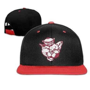 44b5d0810cbb8 Amazon.com  Kids WSU Falt Hat Hip Hop Baseball Cap Red  Clothing